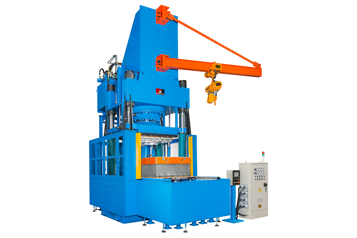 down-stroking-type-compression-molding-machine